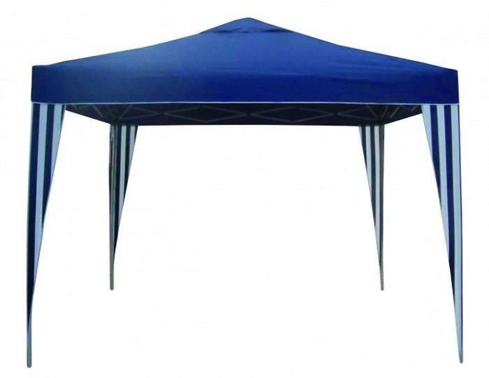 Pavillon Festzelt Gartenzelt Partyzelt Gartenmöbel blau