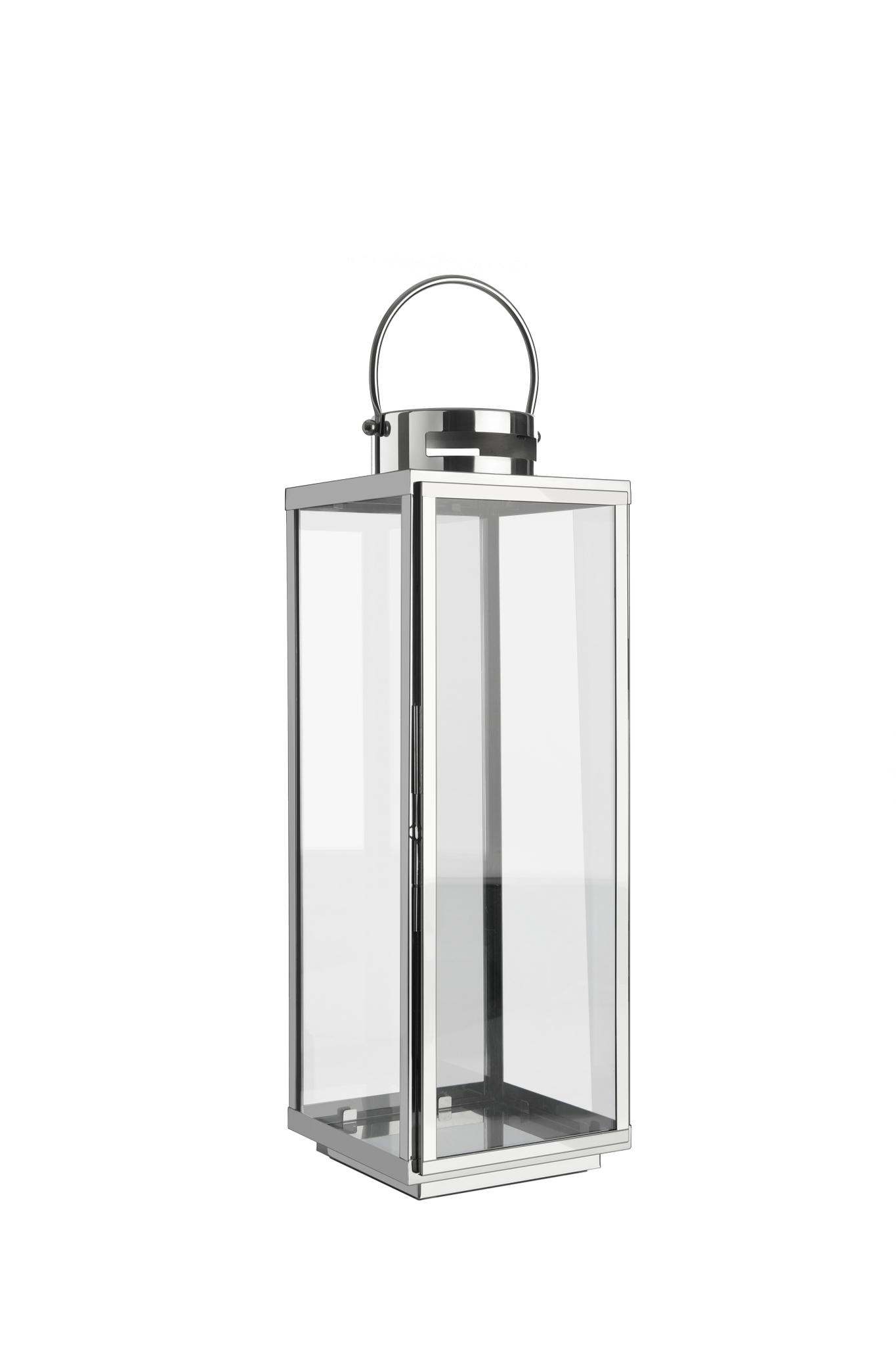 home + lanterna in acciaio inox - acciaio inossidabile, resistente alle  intemperie - in diverse dimensioni (piatto), Metallo