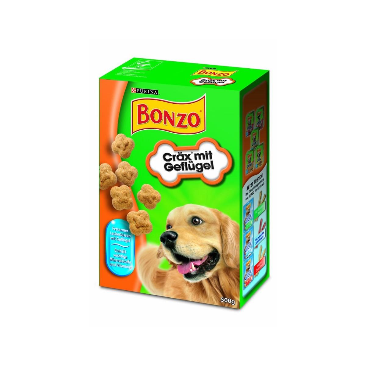 Bonzo Geflügel-Cräx | 500g Hundekekse
