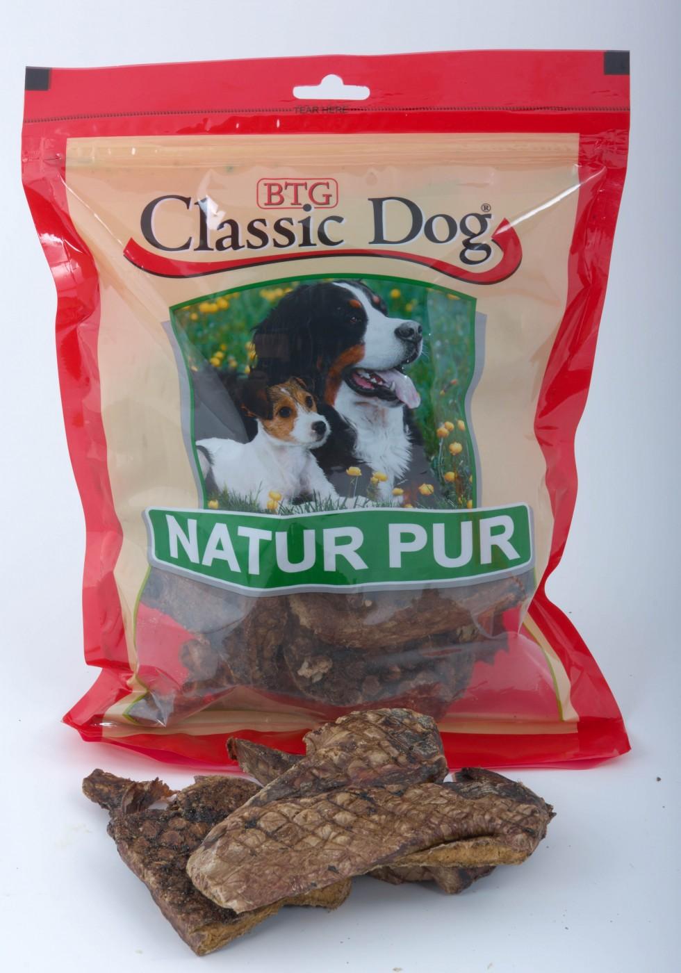 Trockenfleisch Classic Dog Rinderlunge 1kg Hundesnack, Trainingssnack