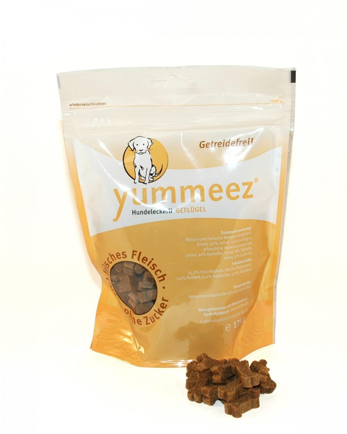 Yummeez Geflügel | 175g getreidefreier Hundesnack