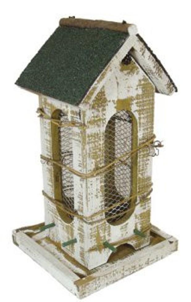 Vogelfutterhaus - Vogel Futtersilo Naturale 15,5 x 19,5 x 27 cm