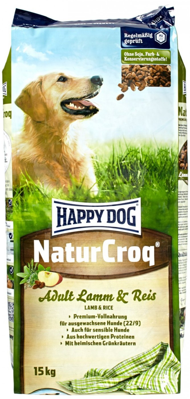 happy dog naturcroq lamb rice 15kg hundefutter. Black Bedroom Furniture Sets. Home Design Ideas