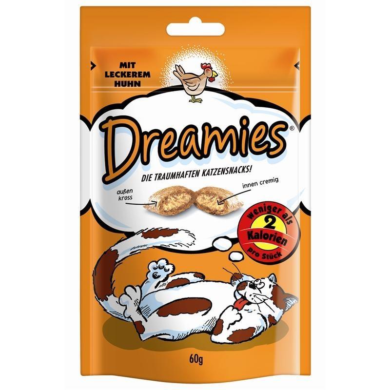 Dreamies Snack mit Huhn | 6x 60g Katzensnack Knuspersnack