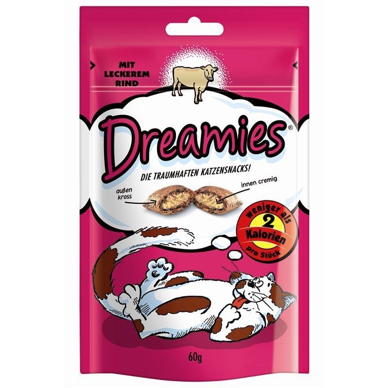 Dreamies Snack mit Rind   6x 60g Katzensnack