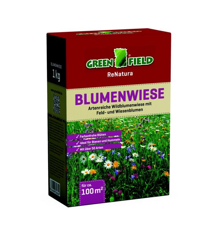 greenfield blumenwiese 1 kg saat f r feld und wiesenblumen. Black Bedroom Furniture Sets. Home Design Ideas