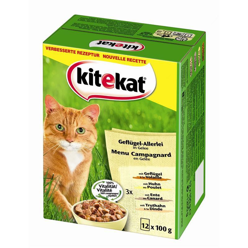 Kitekat Geflügel-Allerlei | 48x 100g Katzenfutter