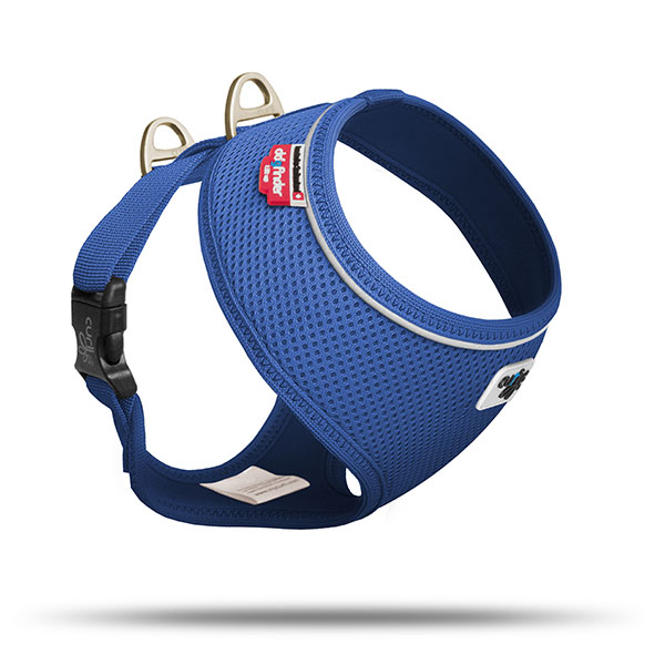 Curli Basic Geschirr Air-Mesh Blau | Gr. M Hundegeschirr