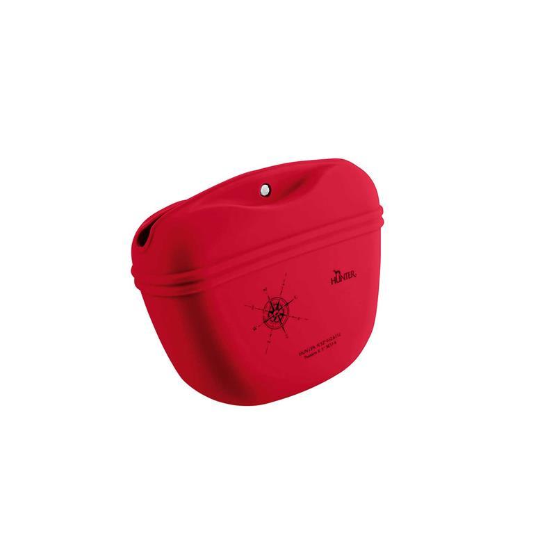 Hunter Silikon Gürteltasche List Rot | 13x11x5cm Hundezubehör
