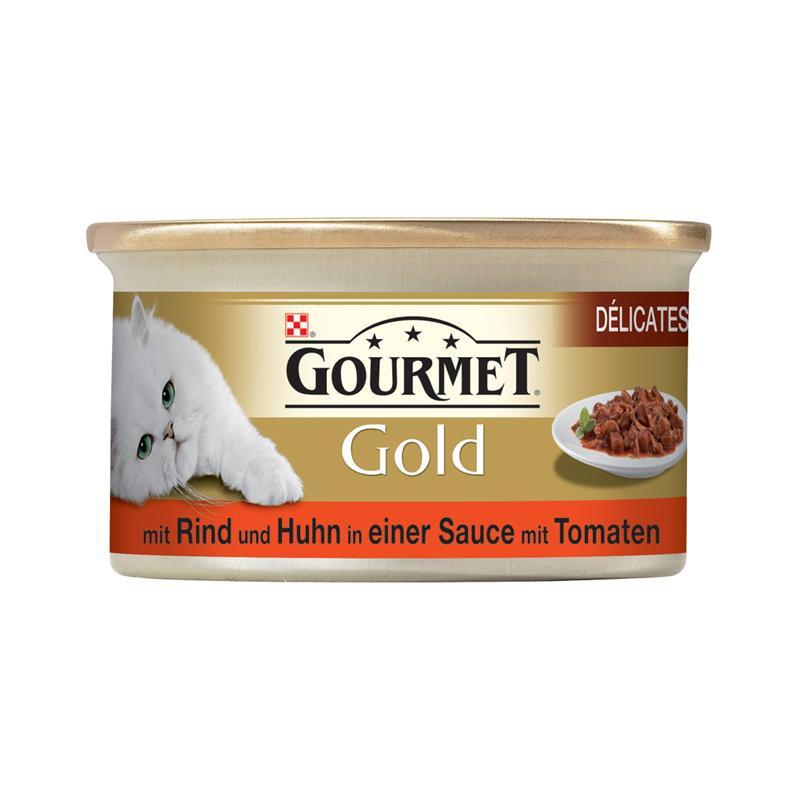 Gourmet Gold Rind und Huhn | 12x 85g Katzenfutter
