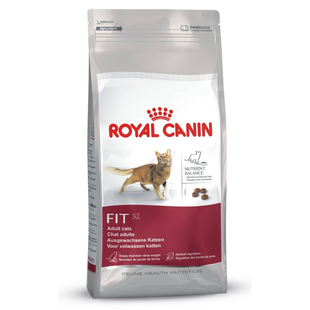 royal canin fit 32 2kg katzenfutter ruhige hauskatzen. Black Bedroom Furniture Sets. Home Design Ideas