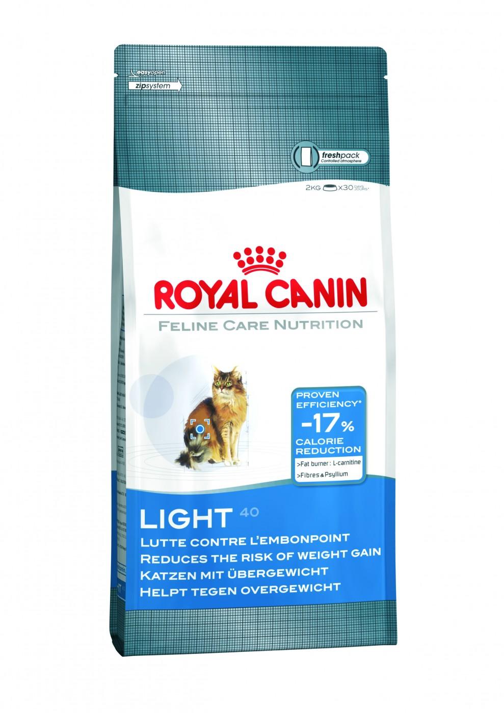 Royal Canin Light40 mit L-Carnitin | 400g Katzen Diätfutter