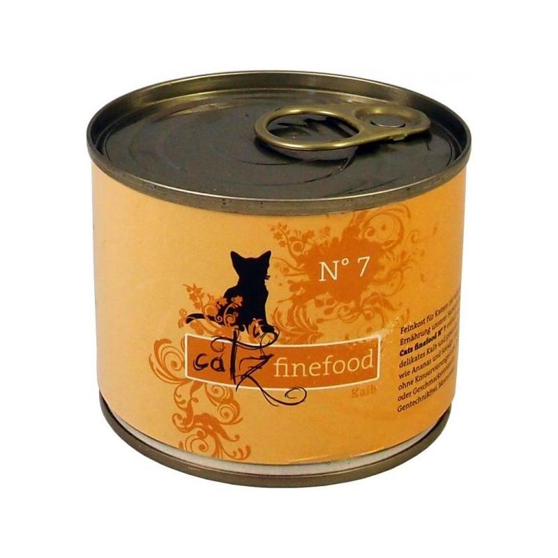 Catz finefood No.7 Kalb | 6x 200g Katzenfutter nass