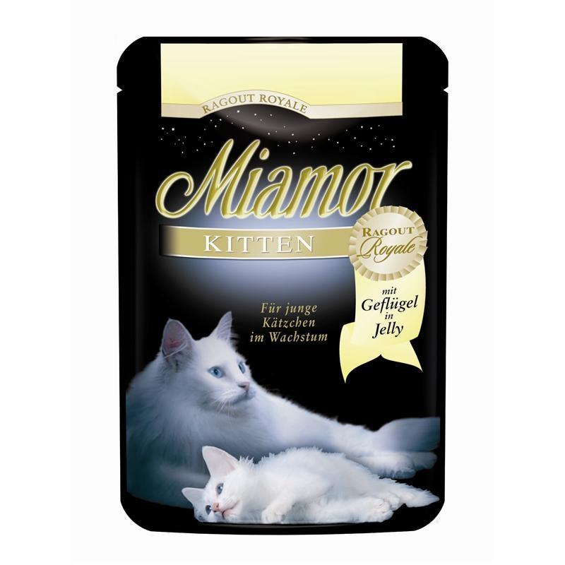 Miamor Ragout Royale Kitten mit Geflügel | 22x100g Katzenfutter nass