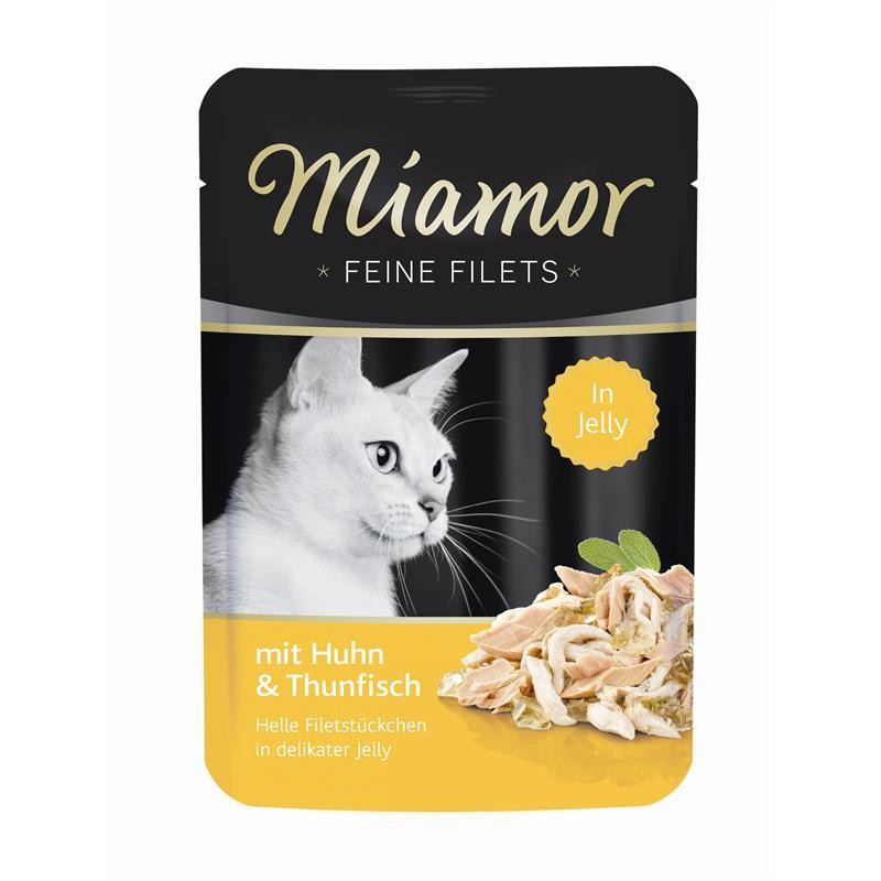 Miamor Filets Huhn & Thunfisch | 24x100g Katzenfutter