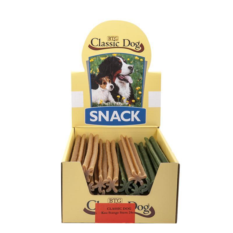 Classic Dog Kaustange 5 Stern | 25 Stück Hundesnack