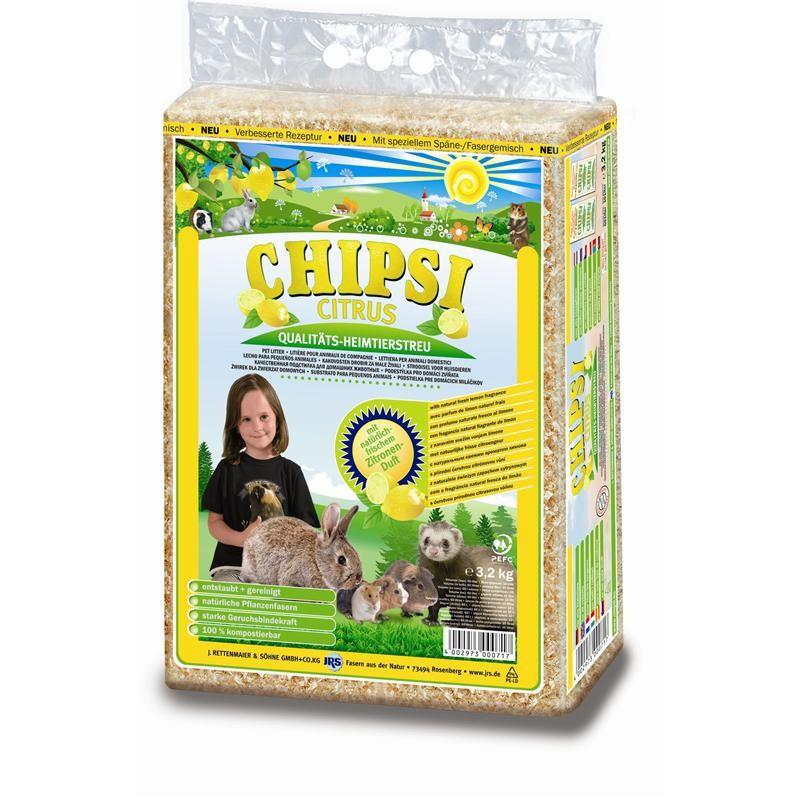 Chipsi Einstreu Citrus | 60 Liter Streu, Kleintierstreu