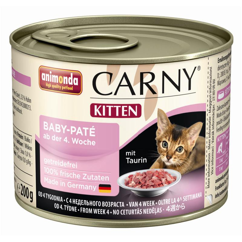 Animonda Cat Dose Carny Kitten Baby-Paté | 6x200g