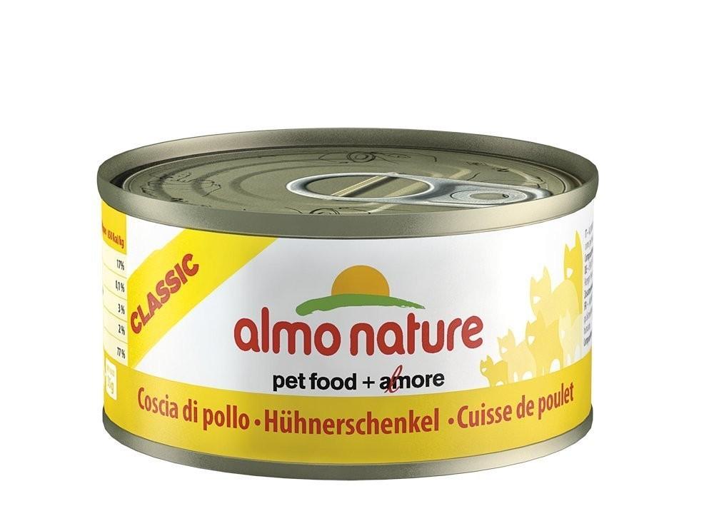 Almo Nature Hühnerschenkel | 24x70g Katzennassfutter