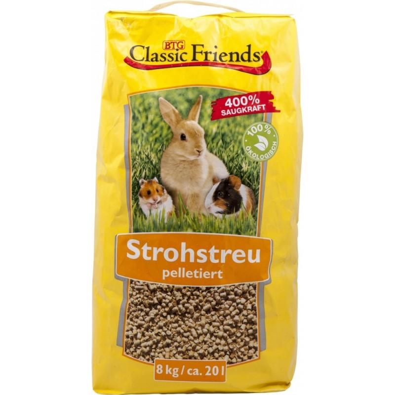 Classic Friends Strohstreu | 20 L Einstreu Nagerstreu
