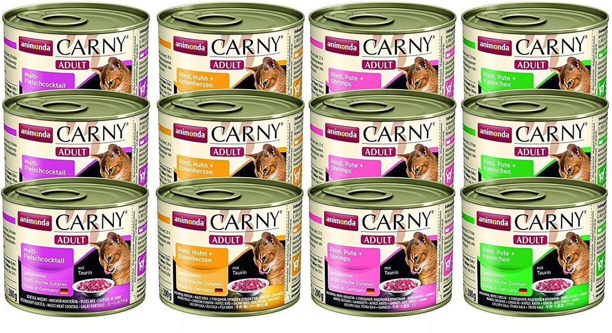Animonda Cat Carny Adult Mix 2 | 12x 200gr Katzennassfutter