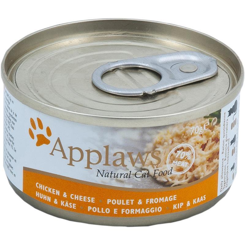 Applaws Katzenfutter mit Hühnchenbrust & Käse | 24x 70g