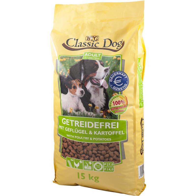 classic dog gefl gel kartoffel 15kg getreidefreies hundefutter. Black Bedroom Furniture Sets. Home Design Ideas