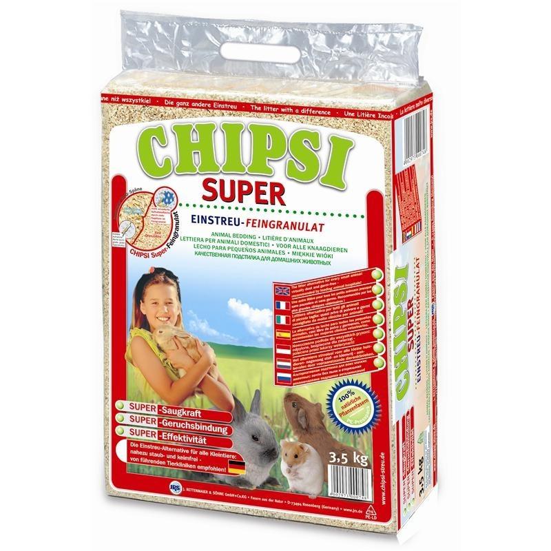 Chipsi Heimtierstreu Super | 3,5kg Einstreu Weichholz Granulat