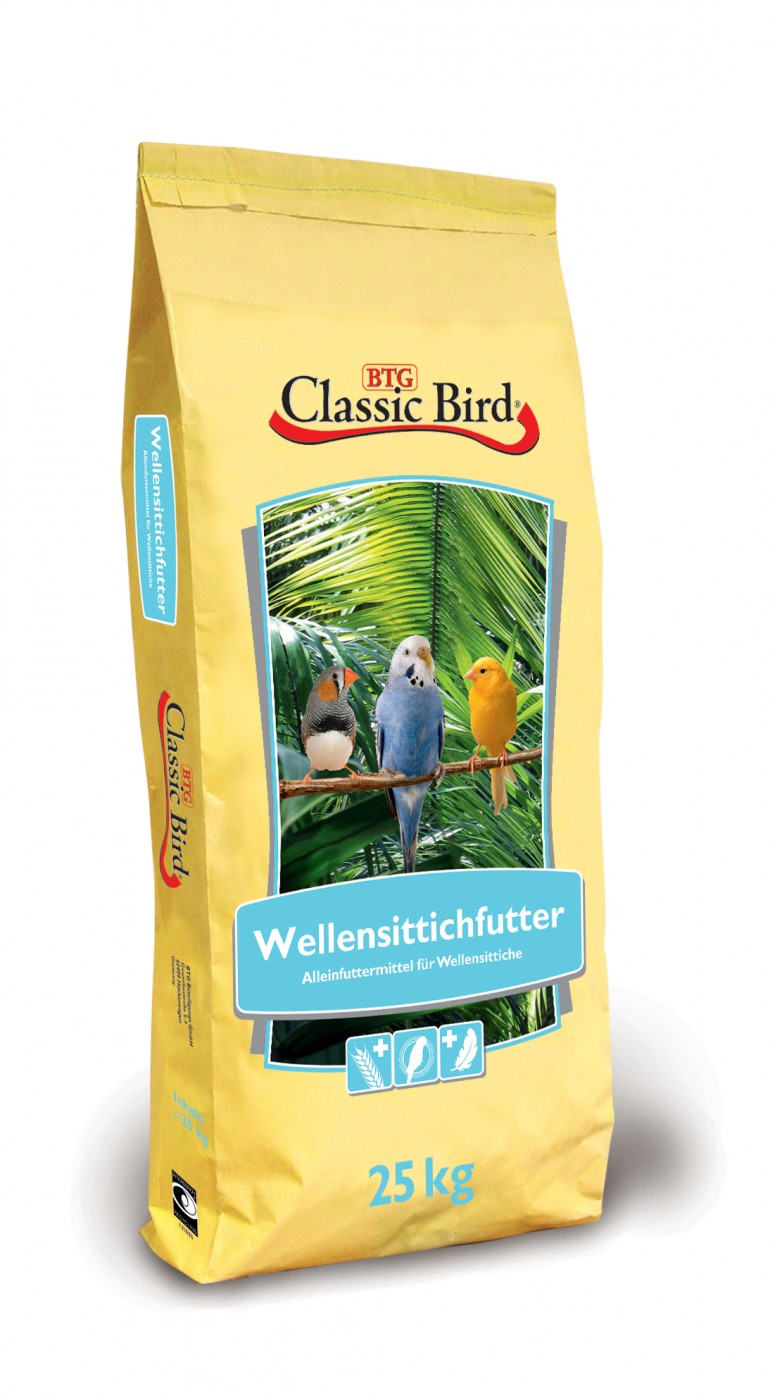 Classic Bird Wellensittichfutter | 25kg mit Kanariensaat
