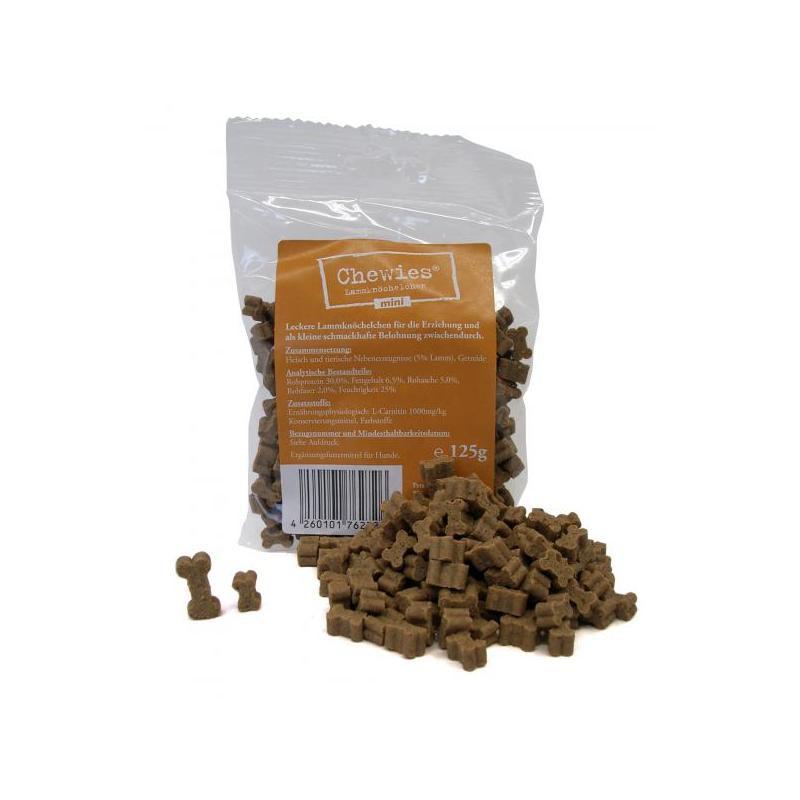 Chewies Mini Lamm Hundeleckerlie | 125g Trainingssnack