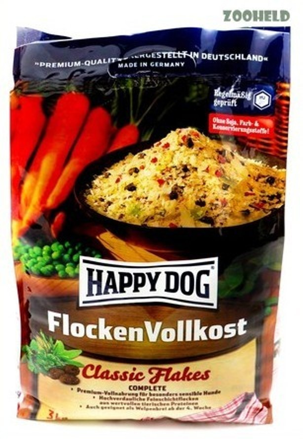 happy dog flocken vollkost 3kg hundefutter welpenfutter. Black Bedroom Furniture Sets. Home Design Ideas