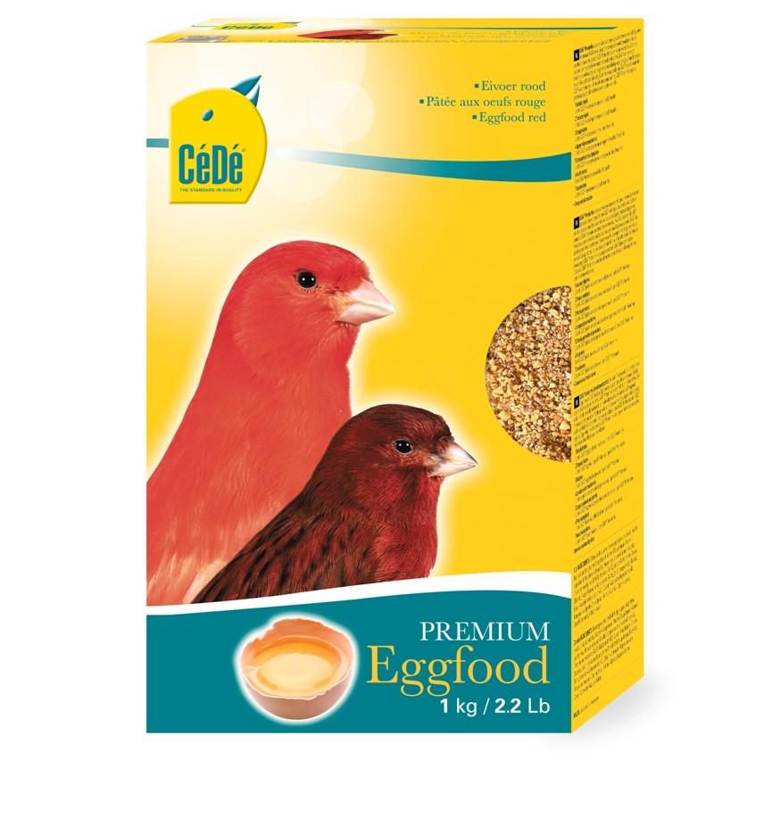 CEDE Kanarien Eifutter rot | 1kg Vogelfutter für Kanarienvögel
