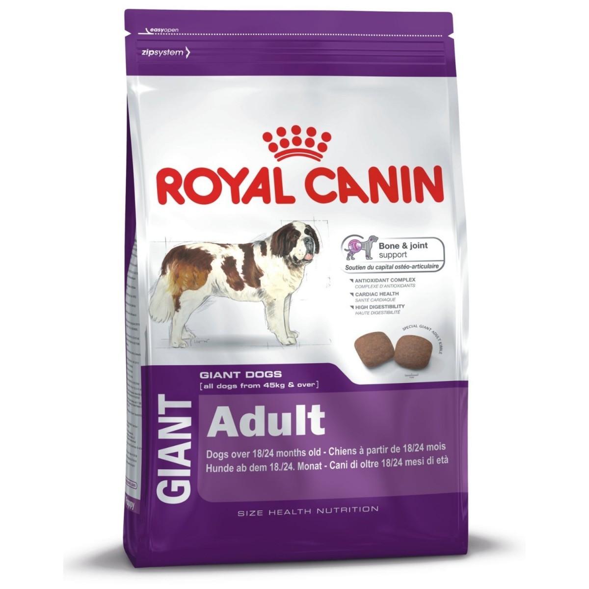 royal canin giant adult 4kg hundefutter f r riesenrassen. Black Bedroom Furniture Sets. Home Design Ideas