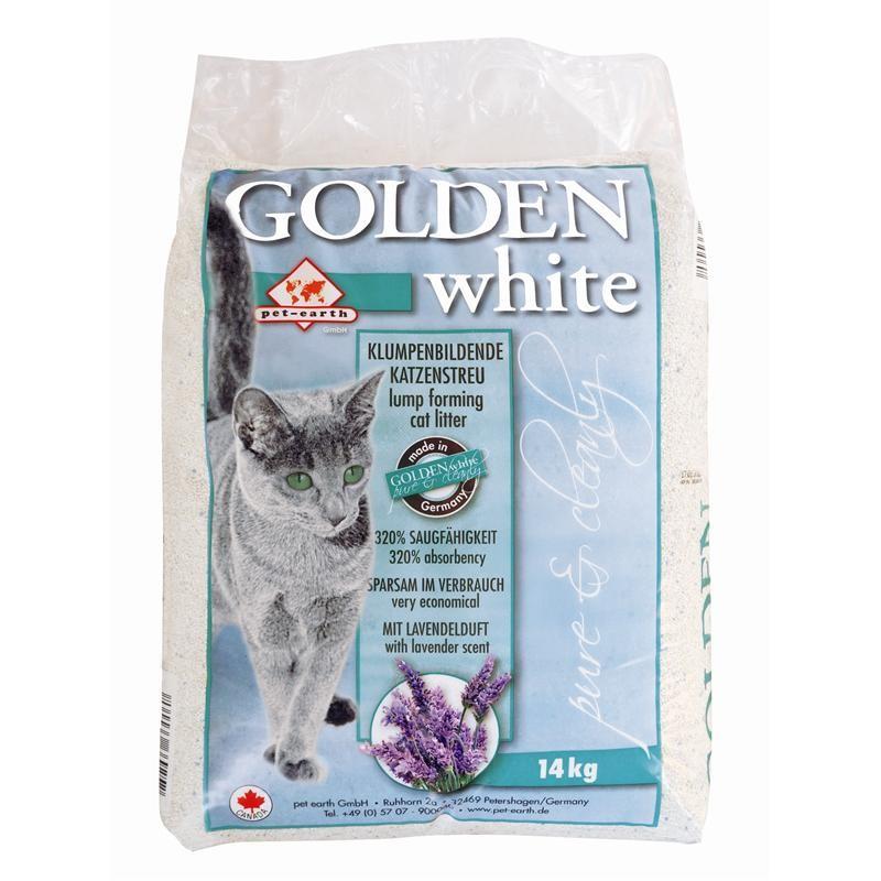 Golden White Katzenstreu   14kg mit Lavendelduft für gute Luft