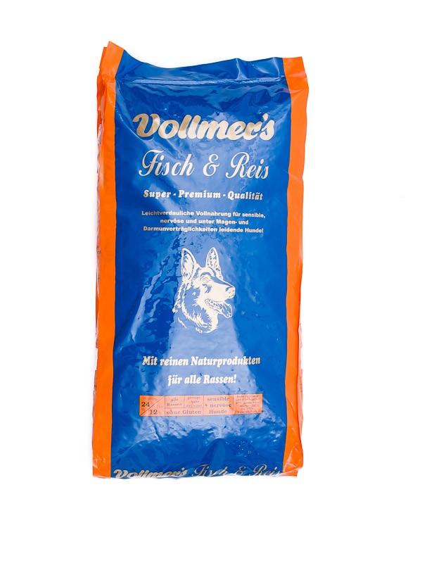 Vollmers Fisch & Reis | 15kg Hundefutter trocken