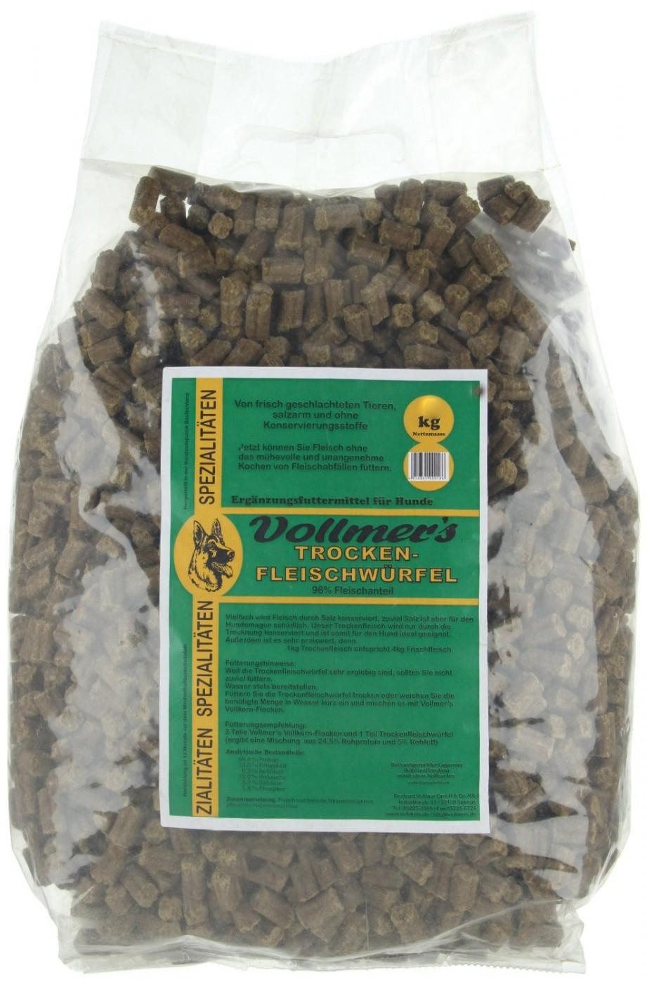 Vollmer´s Trockenfleischwürfel | 10kg Hundefutter