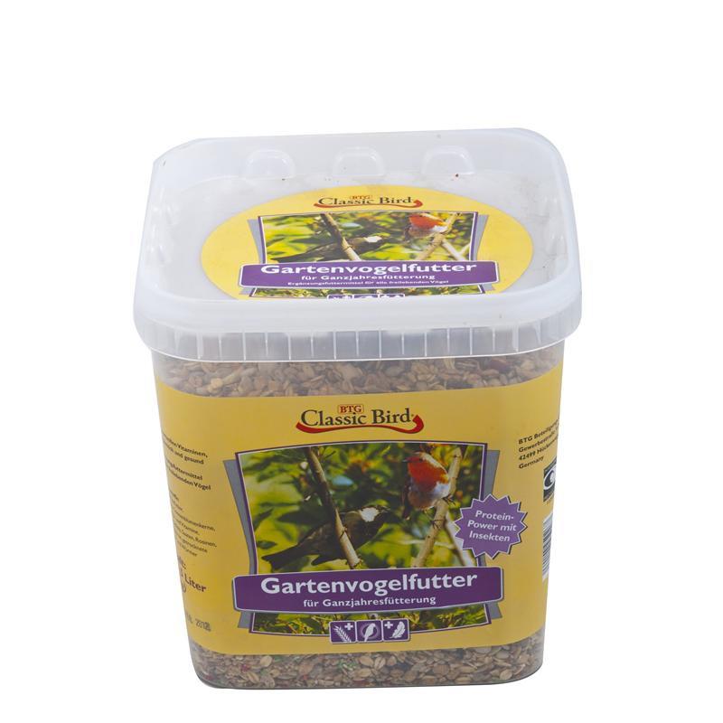 Gartenvogelfutter | 3kg mit Früchten und Insekten im Eimer