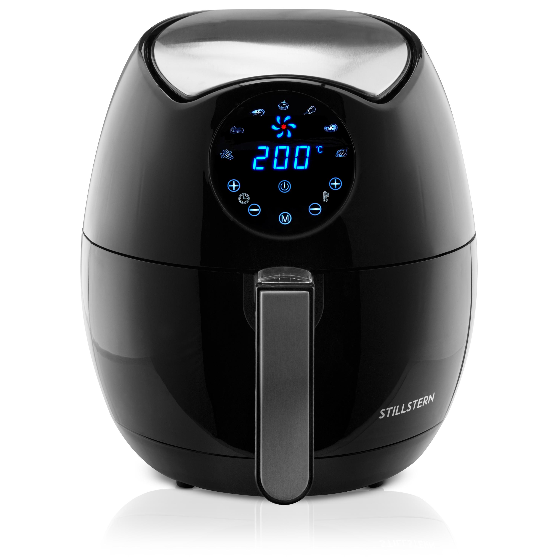 Heißluftfritteuse Heissluft LCD-Touch Touchdisplay Fritöse 1500W 3,2L schwarz