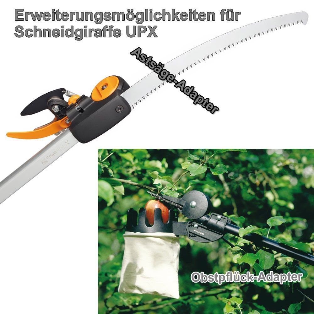 fiskars set teleskop schneidgiraffe und adapter baums ge asts ge upx86 ebay. Black Bedroom Furniture Sets. Home Design Ideas