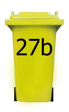 Bin Number Sticker, Tahoma – Bild 2