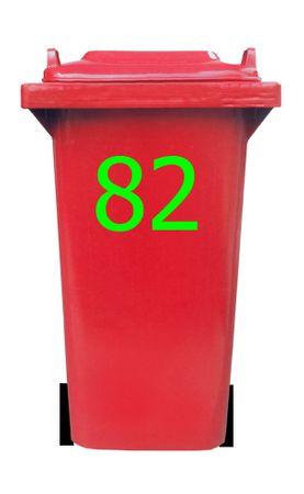 Bin Number Sticker, Tahoma – Bild 4