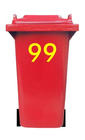 Bin Number Sticker, Futura – Bild 15