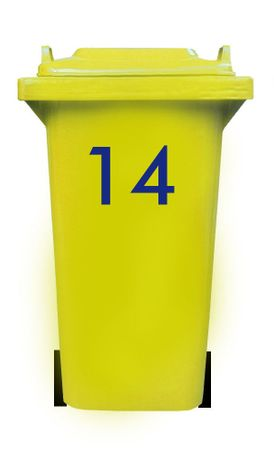 Bin Number Sticker, Futura – Bild 20