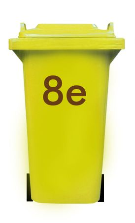 Bin Number Sticker, Futura – Bild 2