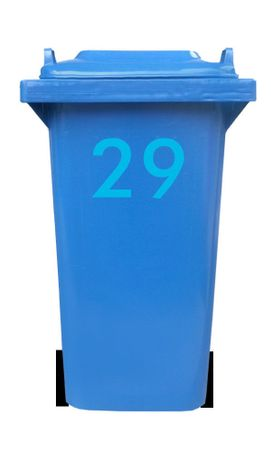 Bin Number Sticker, Futura – Bild 23