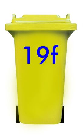 Bin Number Sticker, Futura – Bild 13
