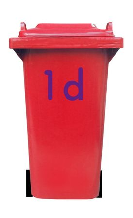 Bin Number Sticker 'Station' – Bild 9