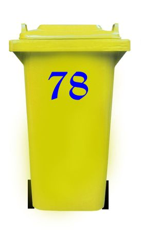 Bin Number Sticker, Old English – Bild 12