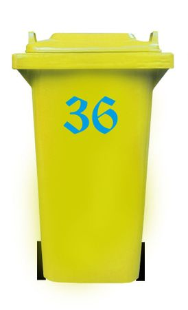 Bin Number Sticker, Old English – Bild 14