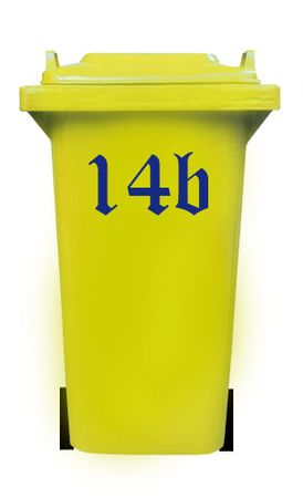 Bin Number Sticker, Old English – Bild 6